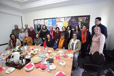 Visite de travail de Mme. Claudia Wiedey chez la Fondation CIDEAL Maroc